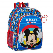Mochila Escolar 42 cm adap trolley Mickey Me Time
