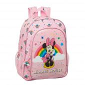 Mochila Escolar 42 cm adap trolley Minnie Rainbow
