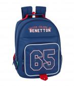 Mochila Escolar 42cm adap Benetton UCB Boy