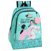 Mochila Escolar 42cm adap Bia Color Stories Disney