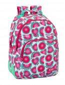 Mochila escolar 42cm adap Blackfit8 Watermelon