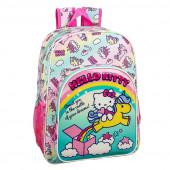 Mochila Escolar 42cm adap trolley Hello Kitty Candy Unicorn