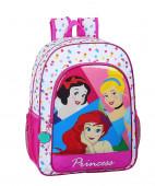 Mochila Escolar 42cm adap trolley Princesas Disney Be Bright