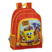 Mochila Escolar 42cm adap trolley Sponge Bob Camp Coral