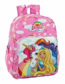 Mochila Escolar 42cm adaptável Barbie Dreamtopia