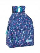 Mochila Escolar 42cm Benetton In Bloom Azul