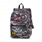 Mochila Escolar 42cm CoolPack Badges Camo Black