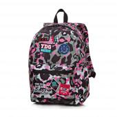 Mochila Escolar 42cm CoolPack Badges Camo Pink