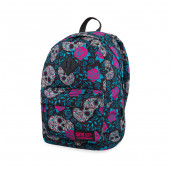 Mochila Escolar 42cm CoolPack Skulls and Roses com USB