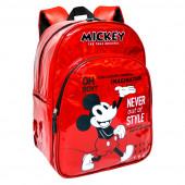 Mochila Escolar 42cm Mickey 90 Anos Vermelha