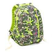Mochila escolar 42cm  Seven - Camouflage Wild Lime