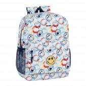 Mochila Escolar 43 cm adap trolley Smiley World Art