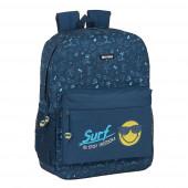 Mochila Escolar 43 cm adap trolley Smiley World Surf