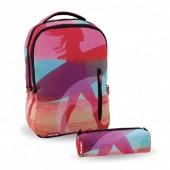 Mochila escolar 43 cm + Porta Lápis 22 cm Beach Ventis