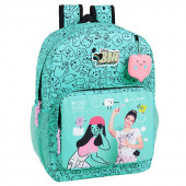 Mochila Escolar 43cm adap Bia Color Stories Disney