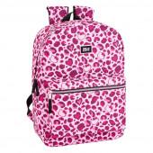 Mochila Escolar 43cm Hello Kitty Leopard