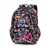 Mochila Escolar 44cm CoolPack Badges Camo Pink