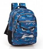 Mochila escolar 44cm Eastwick premium grande angry blue