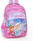 Mochila Escolar 44cm Premium Frozen Two Sisters One Heart