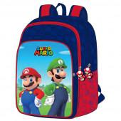Mochila Escolar adap trolley 42cm Super Mario e Luigi