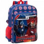 Mochila escolar adap trolley Marvel Iron Man vs Capitão América