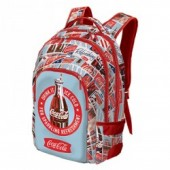 Mochila escolar adp trolley Coca Cola Blue