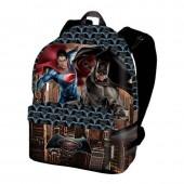 Mochila escolar bolsa Batman vs Superman Dawn