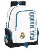 Mochila Escolar Branca para computador Real Madrid Historiy