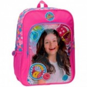 Mochila escolar c/ bolso Sou Luna, adap trolley