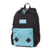 Mochila Escolar CoolPack Hippie Azul Glitter 45cm