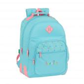 Mochila Escolar Dupla 42cm adap trolley Benetton Candy