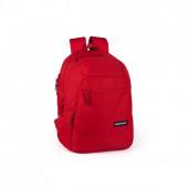 Mochila Escolar Eastwick Vermelha 4Fechos 42cm