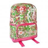 Mochila Escolar Emoji 40cm - Floral