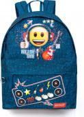 Mochila escolar Emoji Rock Star 43cm