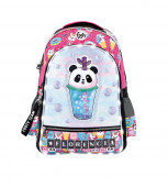 Mochila Escolar Footy Panda 3D LED 45cm