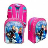 Mochila Escolar Frozen Heart Pink, adap Trolley