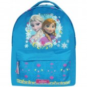 Mochila escolar Frozen Sisters Love Blue