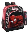 Mochila escolar junior Spiderman Black