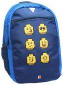 Mochila Escolar Lego Faces Blue 46cm