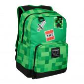 Mochila Escolar Minecraft Survival Badges 42cm