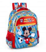 Mochila Escolar Premium 39cm Mickey Team Mickey