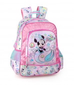 Mochila Escolar Premium 39cm Minnie Mermaid