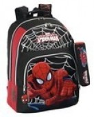 Mochila escolar Spiderman Black Adaptável Trolley