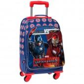 Mochila escolar trolley Marvel Iron Man vs Capitão América