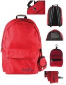 Mochila escolar Vermelha com porta moedas 42cm - Must