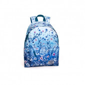 Mochila + Estojo Escolar Eastwick Floral Blue