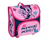 Mochila lancheira rígida Minnie pre escolar