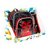 Mochila + Porta Lápis Red Cars
