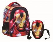 Mochila pre escola 3D de IronMan Avengers 31cm