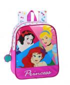 Mochila Pré Escolar 27cm adap trolley Princesas Disney Be Bright